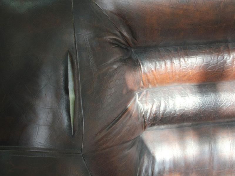 До реставрации мебели из кожи