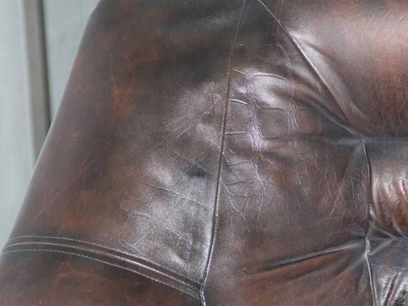 После реставрации мебели из кожи